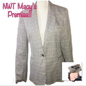 • MACY'S PREMISE | NWT | Plaid Blazer •